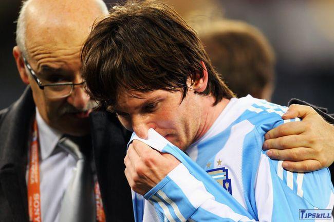 梅西泪洒世界杯